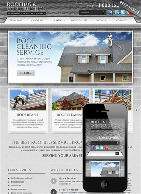 Roofing And Construction Bootstrap Template Id 300111807 Free Construction Website Templates Bootstrap
