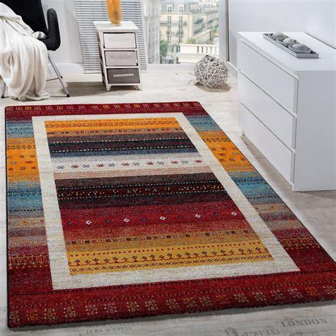 teppich rot gemustert designer teppich mit bord 252 re gabbeh optik rot design teppiche