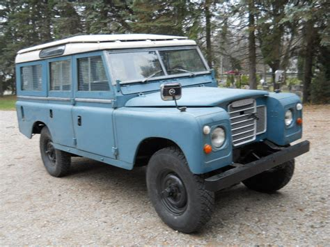 1972 land rover series iii 109 station wagon