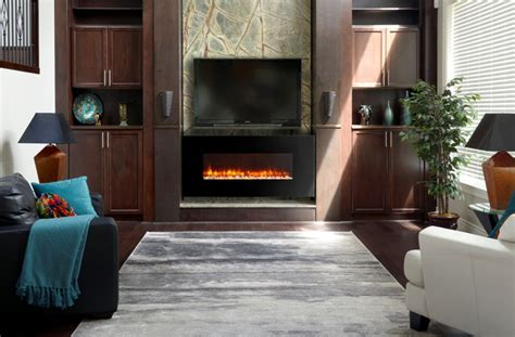 for a tv friendly fireplace go electric stylish fireplaces