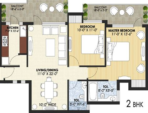 28 2 bhk apartment floor plans 2 bhk house plan as