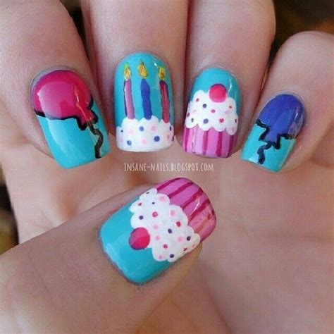 happy birthday nail design 171 best images about belleza varios on pinterest nail