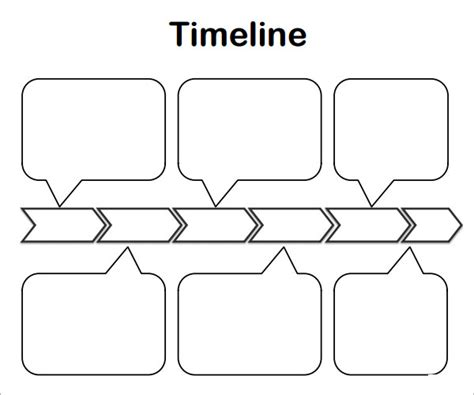 blank timeline template 6 free download for pdf