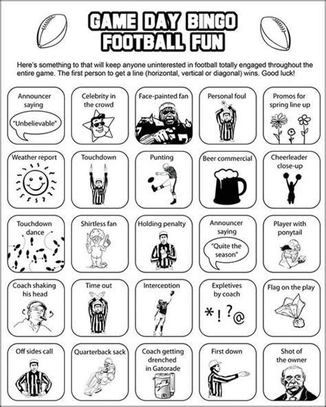 printable games for super bowl printable super bowl bingo cards keep everyone interested