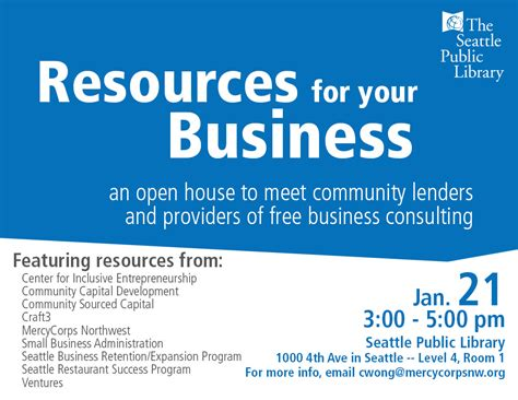 Seattle Small Business Open House Mercy Corps Northwest Business Open House Flyer Template