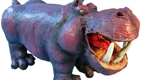 How To Make Large Paper Mache Animals - paper mache hippo