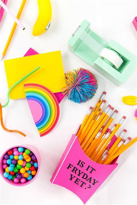 diy school supplies for 187 4 easy back to school supply diys