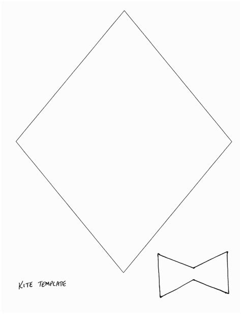 free printable kite template crafts print your kite template all network