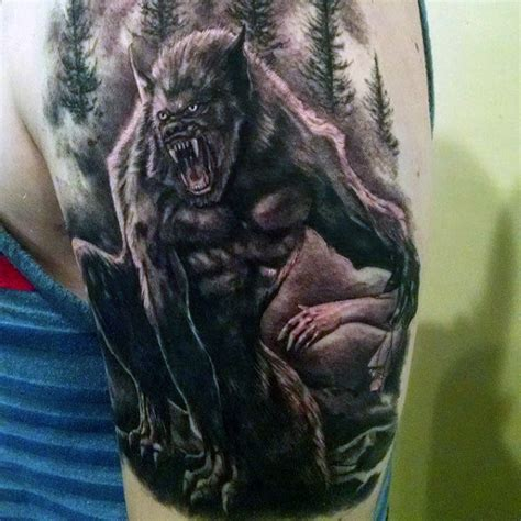 80 werewolf tattoo designs for men full moon folklore