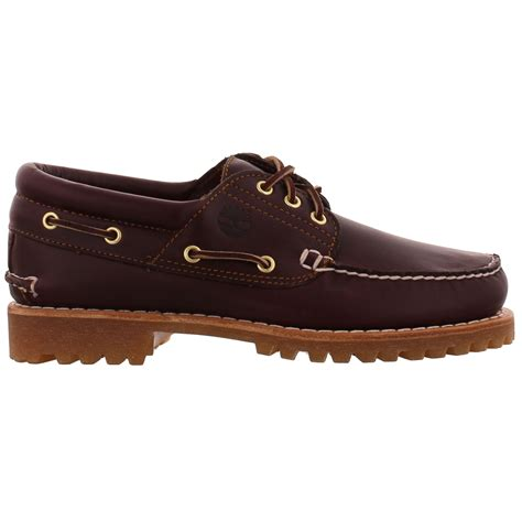 timberland boat shoes non marking timberland 50009 heritage 3 eye brown leather deck boat