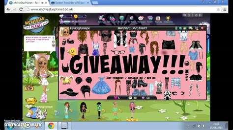Moviestarplanet Account Giveaway - msp giveaway 2015 open youtube