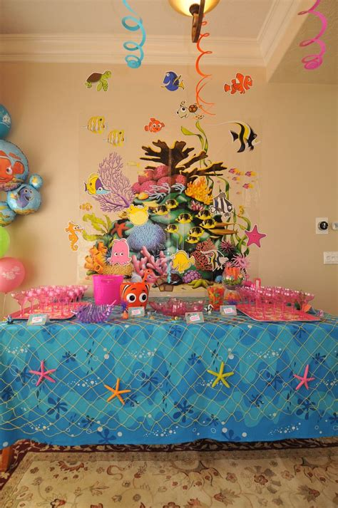 42 best images about finding theme on pinterest finding nemo baby shower table decorations disney