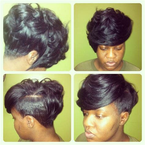 short weave hairstyles with shaved sides hair