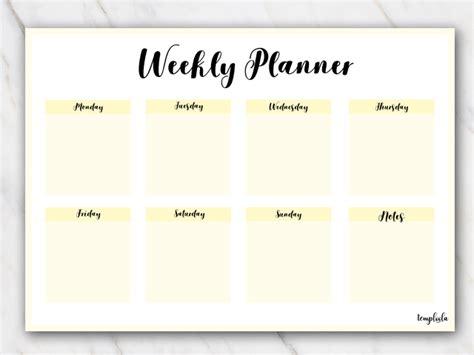 printable weekly planner landscape free printable weekly planners pdf download