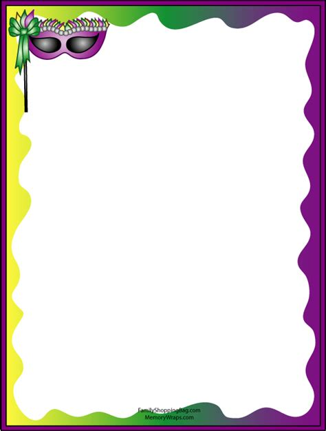 free printable artistic stationery mardi gras clip art free search results calendar 2015