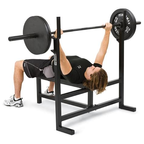 bench pressing weights olympic bench press we120 weight lifting machines