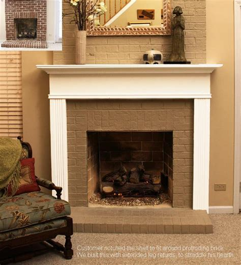 Pictures Of Brick Fireplaces With Mantels by Brick Fireplace Mantel Designs Memes