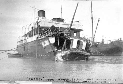 german u boats stood by the sussex pledge world war 1 timeline timetoast timelines