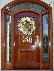 Front Door Initials Personalized Front Door Initials Monogram Decal Sticker Stonegatemonograms
