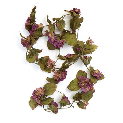 purple artificial geranium garland on sale craft supplies