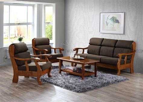 sofa table sets great sale mujo solid wood sofa sets with cushions 3 1 1