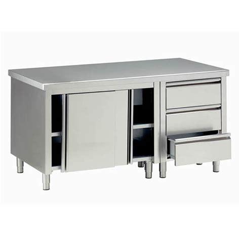 tavolo in acciaio inox tavoli armadiati in acciaio inox attrezzature per negozi