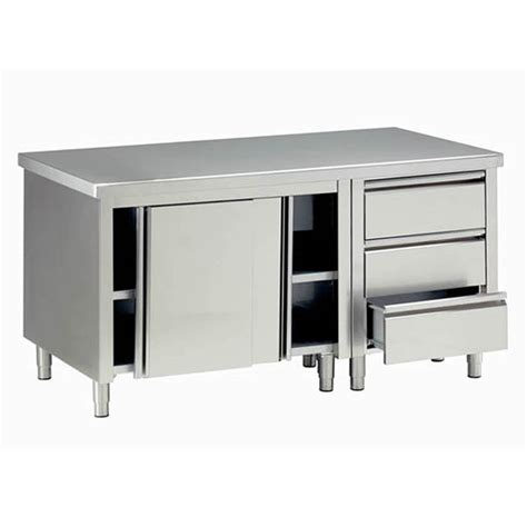 tavoli armadiati inox tavoli armadiati in acciaio inox attrezzature per negozi