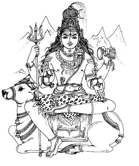 shri shiva an image to color children s land