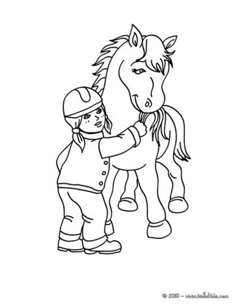 coloring pages of a horse with a girl girl feeding a horse coloring pages hellokids com