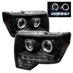 2012 Ford F150 Headlights 2009 2012 Ford F150 Halo Led Projector Headlights Black