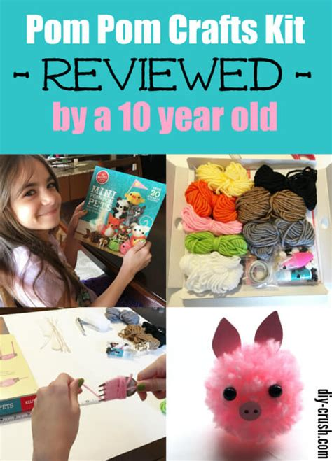christmas crafts for 10 year olds pom pom craft kits from klutz diy crush