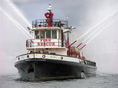 fireboat on fire commercial fire boat retired seattle fireboat 1927 for