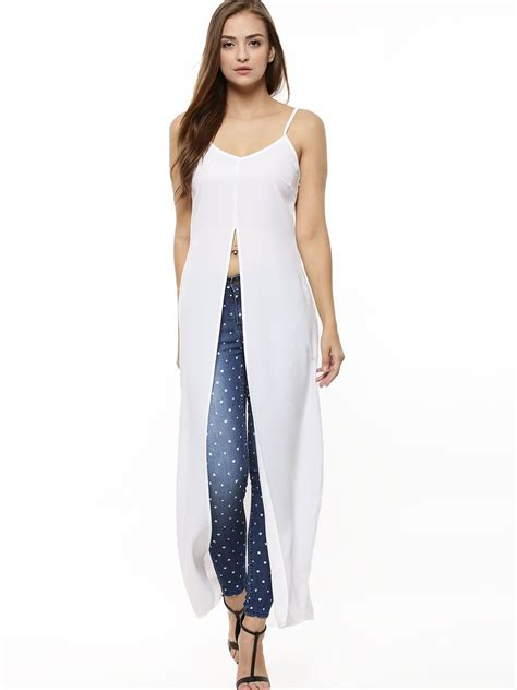 Maxi Blouse Maxi Top buy front split strappy maxi top for s white