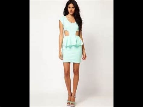 how to cut meesha how to make a peplum dress with cut outs youtube