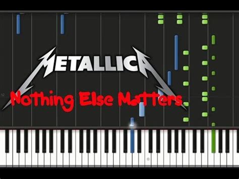 youtube tutorial nothing else matters metallica nothing else matters piano cover tutorial