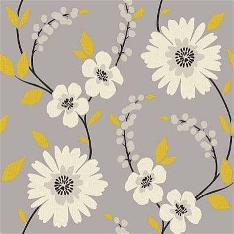 yellow flower wallpaper for walls stansie grey yellow 414200 arthouse wallpapers a