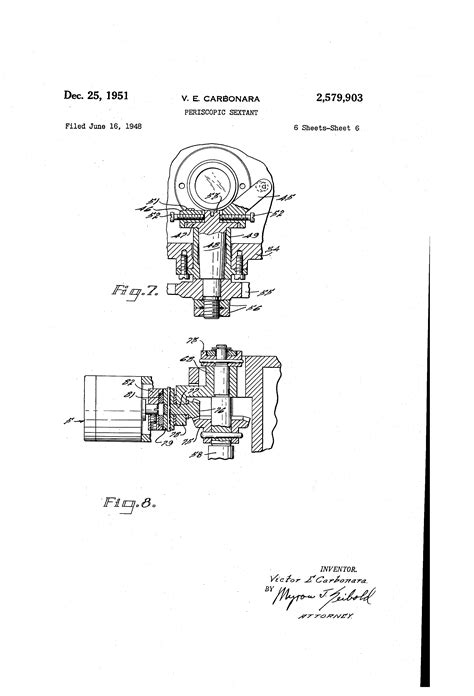 sextant inventor patent us2579903 periscopic sextant google patents