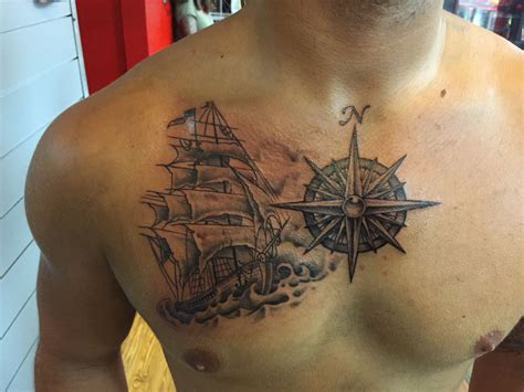 treasure chest tattoo collection of 25 treasure map and nautical tattoos