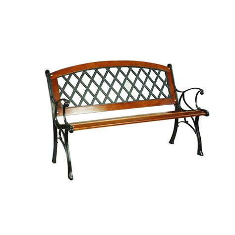 l bench shop garden treasures 25 95 in w x 50 in l brown steel