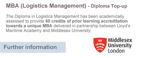 Bpp Mba Top Up by Logistics Management Diploma Distance Learning Course