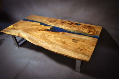 elm live edge table poco resina live edge elm wood slab coffee table with