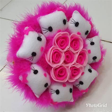 Bouquet Bunga Flanel Isi 10 Bunga jual bouquet buket boneka hellokity buket flanel