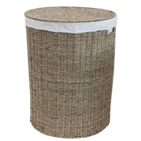 Seagrass Round Laundry Basket Lined Seagrass Laundry