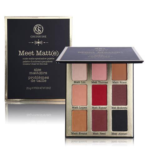 matte lidschatten palette professional brand makeup 9 color meet matt e eye
