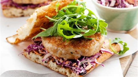 Chicken Burger Endura 600g recipe of the day grilled chicken burger with cabbage coleslaw and lifestyle