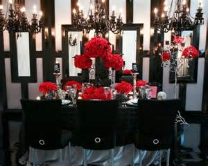 Black And Red Table Settings - gorgeous red black table setting se7en pinterest