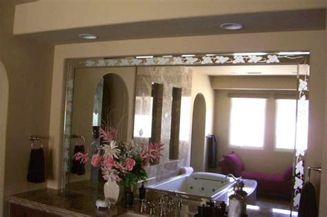fancy palm border decorative mirror with etched carved rose border decorative mirror with etched carved design