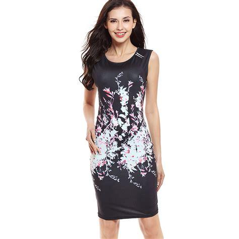 dress mini import fashion summer sleeveless floral evening