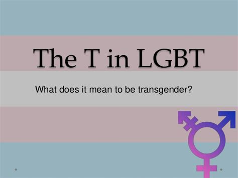 what does transgender mean exactly and how does the the t in lgbt