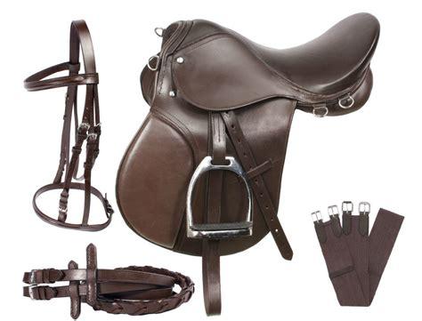 horse saddle new all purpose brown leather english horse saddle bridle